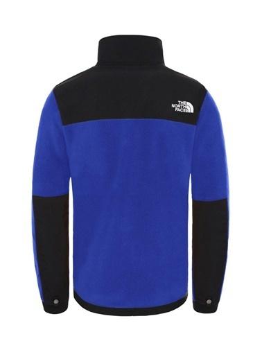 The North Face Denali Erkek Sweatshirt Mavi/Siyah Mavi